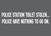 Police Station Toilet Stolen Funny New Tee T-Shirt