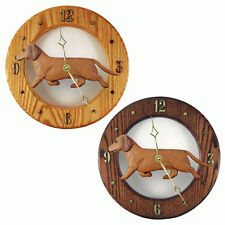 Dachshund (Smooth) Oak Wall Clock. In Home, kitchen, Living Room or Den Products