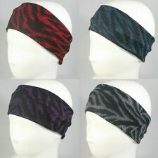 ZEBRA HEADBAND HEADWRAP BANDANA ELASTIC HEADWEAR STRETCH HAIR ACCESSORY WIG HAT