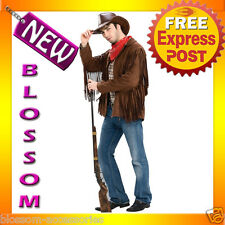 C409 Western Cowboy Buffalo Bill Cody Jacket Fancy Adult Men Costume M L XL