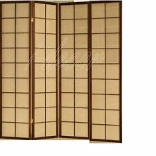 3 & 4 Panel Fabric In Lay Espresso Room Screen Divider