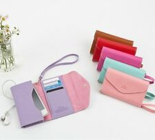 For Apple iPhone/iPod/Galaxy/Blackberry Smart Phone Fold Pouch Case Card Wallet