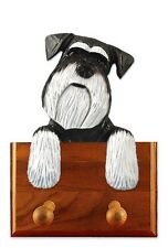 Schnauzer Natural Dog Topper Leash Holder. In Home Wall Decor Products & Gifts.