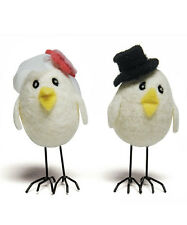 Little Bird Couple Funny Wedding Bride & Groom Cup Cake Decoration Topper Top