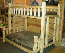 TIMBERJACK BUNKBED  $699 RUSTIC CUT FROM LOGS - FREE SHIPPING!