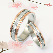 Gold His/Her Matching Wedding Engagement Bands Titanium Rings Set Sz4-14.5 4/6m