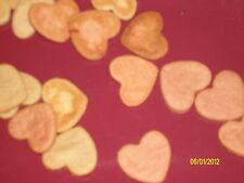 HEART SHAPED GOURMET  WHOLE WHEAT PEANUT BUTTER DOGGIE TREATS /DOG COOKIES