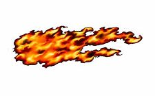 Side flames vinyl graphic decal wrap motorcycle go kart race car trailer