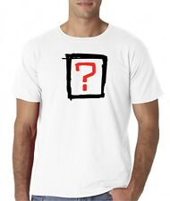 Mens Where Is The Love Question Mark White T-Shirt Tee