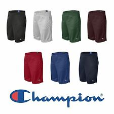 "Champion NEW Mens Size S-2XL Athletic Long Mesh Pocket Gym Shorts 9"" Inseam s162"