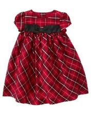 GYMBOREE HOLIDAY TRADITIONS RED PLAID SILK DRESS 0 3 6 12 18 24 NWT