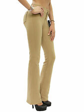 New Women's Stretch Brazilian Moleton Bootcut Reg Leg Jeggings Pants S-XL BEV111