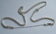 Sterling Silver Necklace Extender Extension chain 2 x 9mm Lobster Clasps