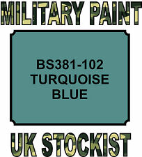 102 TURQUOISE BLUE MILITARY PAINT METAL STEEL HEAT RESISTANT ENGINE  VEHICLE