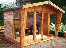 BEAUTIFUL TIMBER WOOD NEWLAND SUMMERHOUSE DELIVERED & ERECTED  IN CEDAR & DEAL