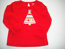 Gymboree NWT COZY CUTIE Tee Top Shirt Red Ribbon Tree 2 2T 3 3T 4 4T 5 5T