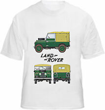 Land Rover T-shirt Classic Series 1 Tribute Landrover Blueprint Style Tee