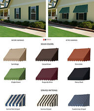 Window Awnings Traditional Style with Scalloped Valence in 7 Colors & 3 Stripes