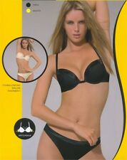 WONDERBRA SMOKIN CLEAVAGE BRA - BLACK - 7707 - NEW WITH TAGS