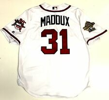 GREG MADDUX ATLANTA BRAVES '95 WORLD SERIES MAJESTIC JERSEY