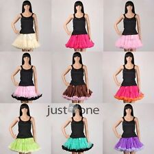 Adult Women Teen Girls Chiffon Princess Pettiskirt full Party Ballet Tutu Skirt