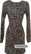 TOPSHOP ZEBRA ANIMAL PRINT BODYCON DRESS BRAND NEW!