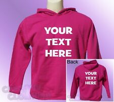 Pink Hoodie toddler PERSONALISED your text name logo you choose colour print