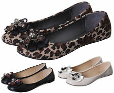 NEW WOMEN'S MODERN FLAT FLORAL PATTERN PUMP SHOES AVAILABLE IN UK SIZES 3-8