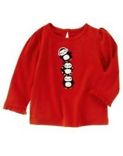 GYMBOREE WINTER PENGUIN RED PENGUIN STACKED CREW TEE 3 6 12 18 24 2 3 4 5 NWT