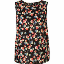 Topshop Watercolour Floral Shell SUMMER Top  BUTTON BACK BRAND NEW  6-16 RRP £32