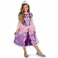 Child Toddler Movie Tangled Disney Princess Rapunzel Lame Deluxe Dress Costume