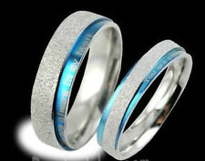 Fashion Titanium Steel Promise Ring grind arenarious Wedding Bands Engagement
