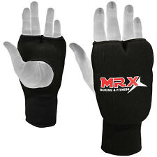 Elasticated Training Karate Mitt / Boxing Mitts / Fist Punching Gloves, Black