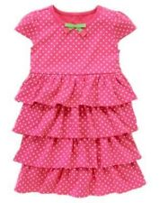 GYMBOREE BRIGHT TULIP PINK DOT TIERED TULIP DANGLE DRESS 4 5 6 8 9 10 NWT