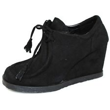 WOMENS NEW BOOTS BLACK HEELS ANKLE BOOTIES BOOTS WEDGES LADIES SHOES AU SIZES