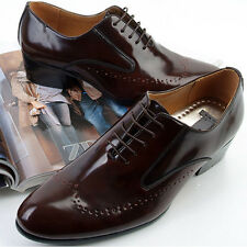 New Designer Mens Leather Italian Style Oxfords Dress Formal Shoes Brown
