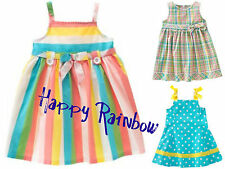 ~NWT 12 18 2T 4T gymboree HAPPY RAINBOW SUNDRESSES! dots, stripes, plaid~U-PIC!