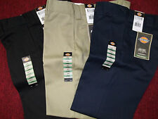 DICKIES SLIM STRAIGHT PANTS 3 COLORS BLACK - KHAKI - DARK NAVY #WP873 SLIM NWT