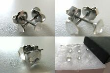 Clear Crystal Surgical Steel Hypo-allergenic Stud Earrings Swarovski Elements