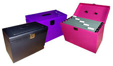 A4/Foolscap Lockable Metal File Box - **5 Free Suspension Files** Home Storage