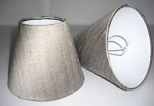 Candle Lampshades Handmade in UK - Taupe Silk
