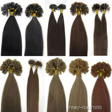 18'' Nail tipped Remy Brazilian Pre Bonded Human Hair Extensions 100s 9Colors50g