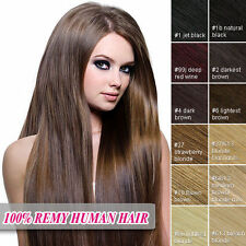 "100% REAL REMY HUMAN HAIR 100S 20"" 22"" 24"" 26"" LOOP/MICRO RING HAIR EXTENSIONS"