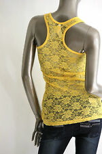 Basic TANK Top Junior Lace back tank top Floral Racer Back Casual comfy New Sz M