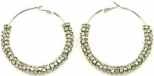 New Hoop Earrings With 32 Iced Out Rings Paparazzi Gaga Basketball Wives Style