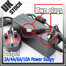 DC 12V 2A/4A/6A/10A BS Power Supply Adapter For LED Strip 3528/5050 Light + Plug