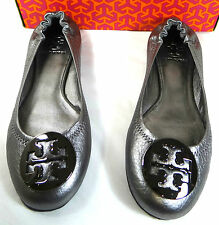 Tory Burch Reva Pewter Leather Ballet flat shoes 5-12