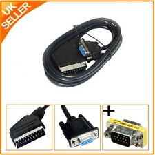 Scart to 15Pin S-VGA Male – Scart to 15pin S-VGA Female HD TV LCD Cable Lead