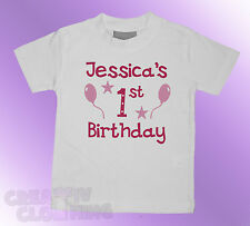 Baby Toddler T-Shirt GIRLS - Its (name) 1st 2nd 3rd birthday PERSONALISED