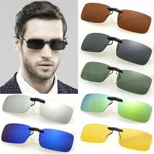 Polarized Clip On Wear Over Sunglass Glasses Eyeglass Spectacle Lens Driving Car